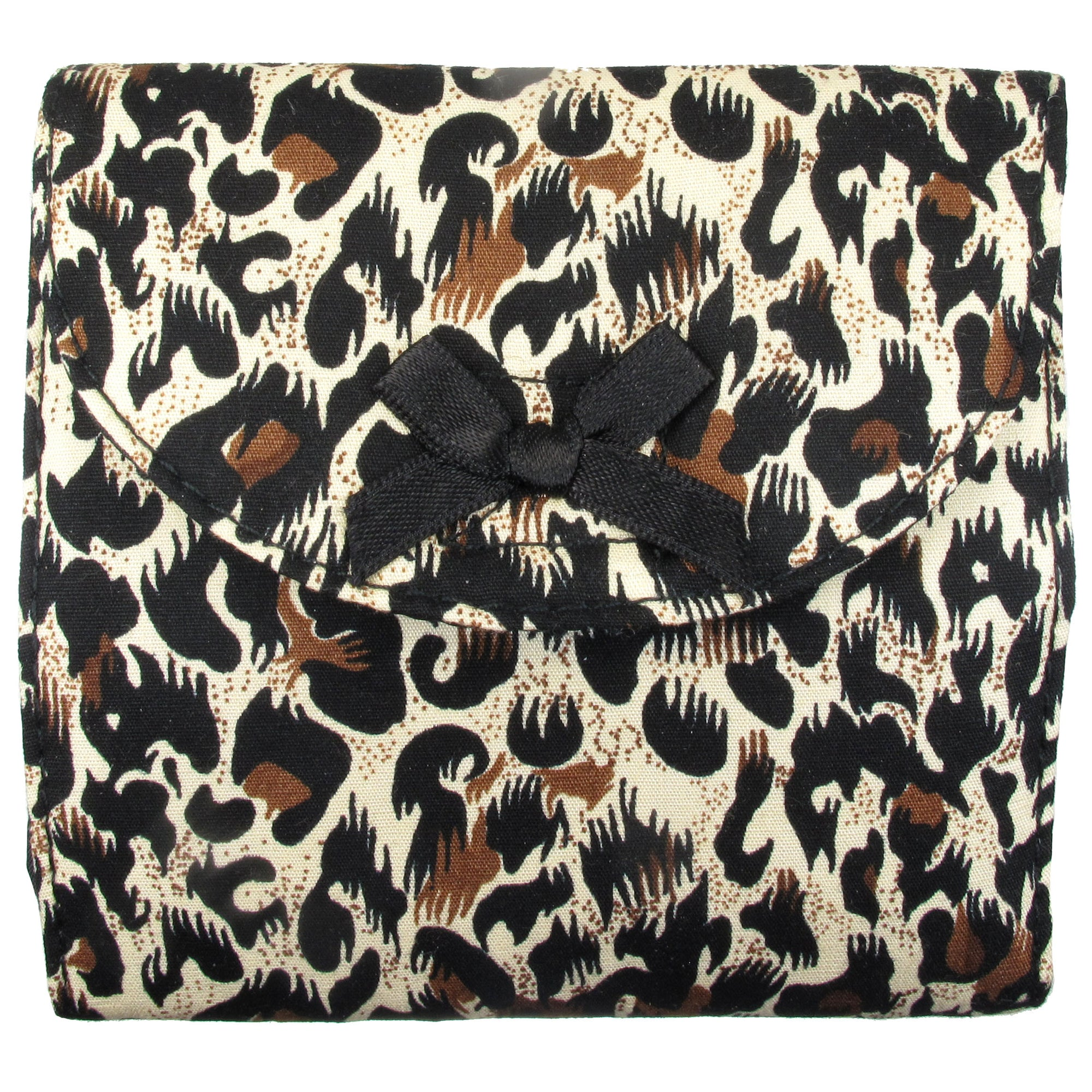 Sanitary Napkin (Sanitary Pad) Case (Bag, Pouch, Holder), Cotton Fabric, Small, Leopard Print