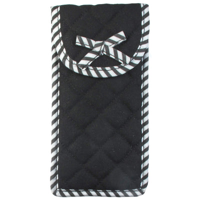 Quilted Canvas Soft Eyeglass Case, Black