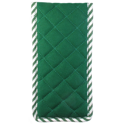 Quilted Canvas Soft Eyeglass Case, Green