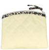 Coin Purse & Pouch, Quilted Canvas, Beige