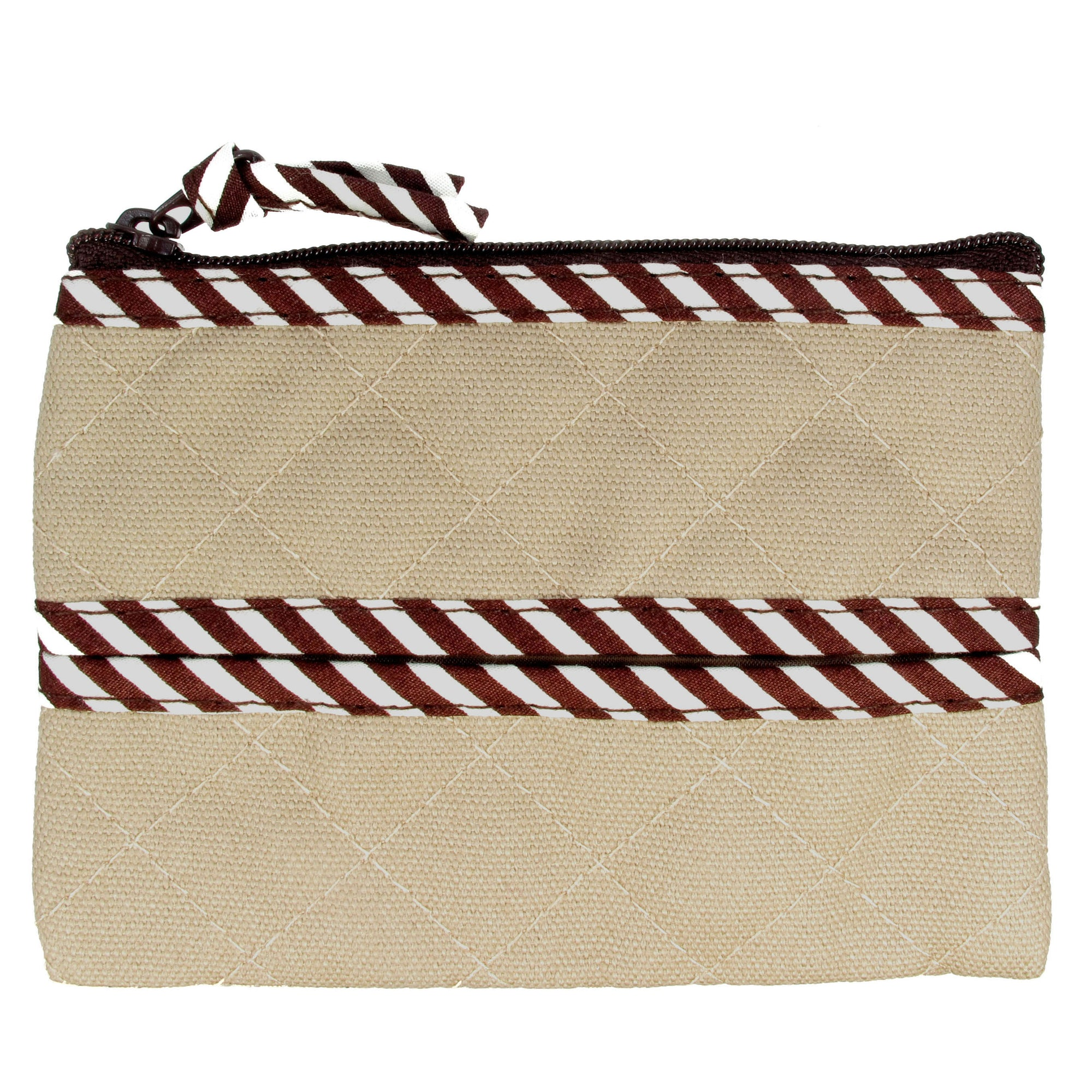 Coin Purse & Pouch, Quilted Canvas, Khaki