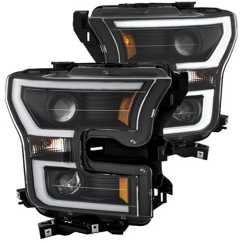 2015-2017 LED Black Projector Headlights - F-150 Addicts