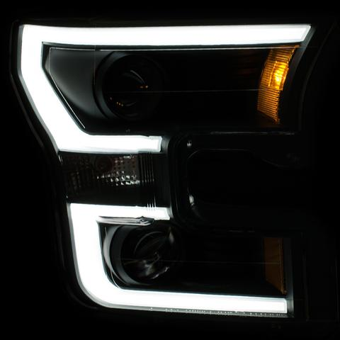 Image of 2015-2017 LED Black Projector Headlights - F-150 Addicts