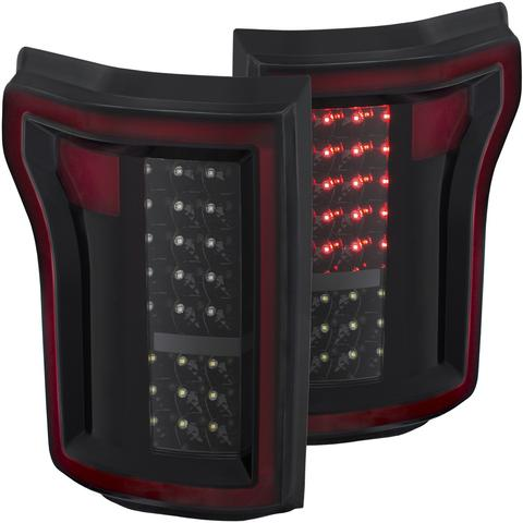 Image of 2015-2017 Ford F150 Anzo Black LED Tail Lights - F-150 Addicts