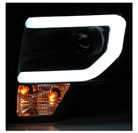 Image of 2013-2014 Ford F150 Black Projector Headlights w/ LED DTRL (HID Verson, Will not fit halogen models) - F-150 Addicts