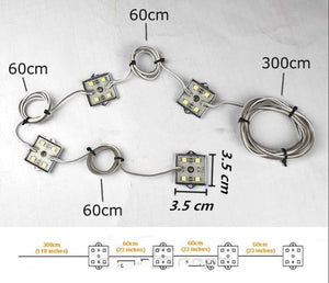 8 Piece Universal LED Bed Rail Kit