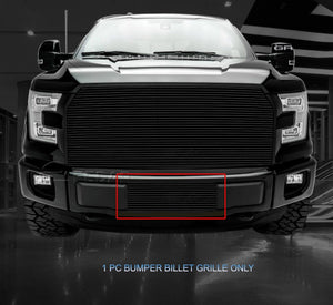 2015-2017 F150 Lower Bumper Black Billet Grille Insert - F-150 Addicts
