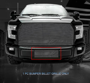 2015-2017 F150 Lower Bumper Chrome Billet Grille Insert - F-150 Addicts