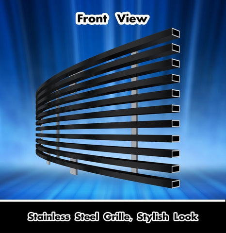 Image of 2009-2014 F150 Black Stainless Steel Lower Bumper Billet Grille - F-150 Addicts