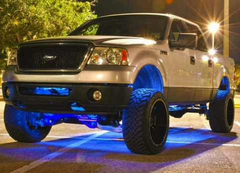 Image of LED Concepts Color Changing: RGB Rock Lights (8 PC KIT) - F-150 Addicts