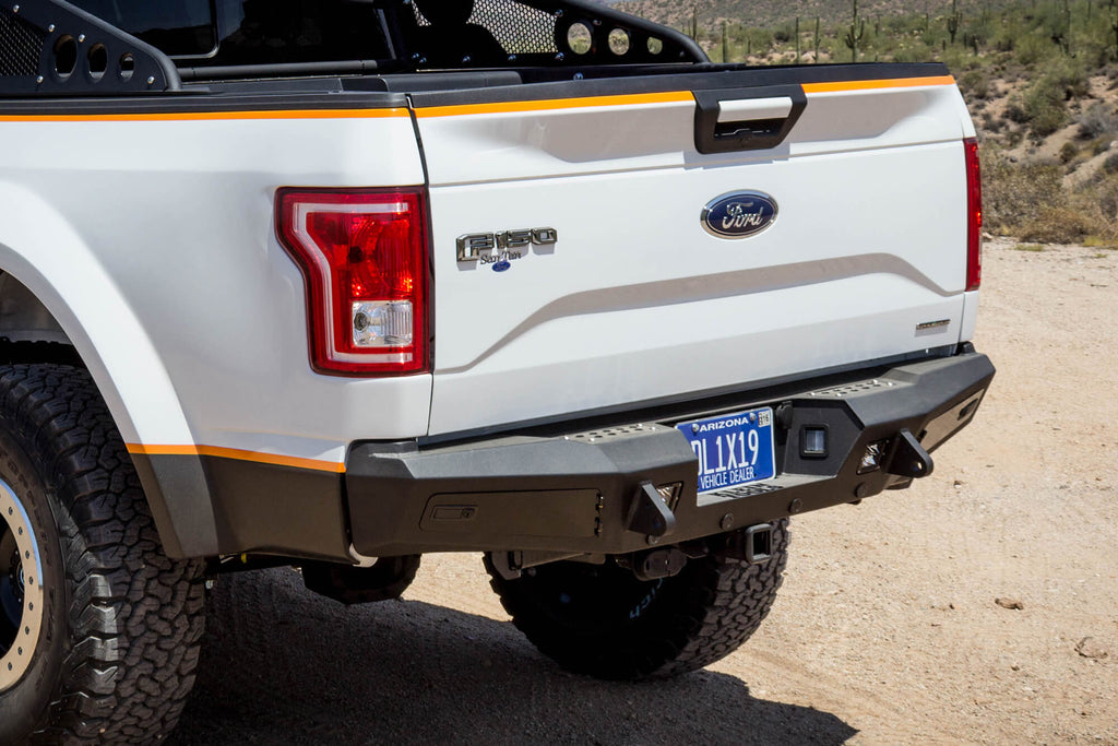 2015-2018 Ford F 150 Honeybadger Rear Bumper w/ Backup Sensors - F-150 Addicts