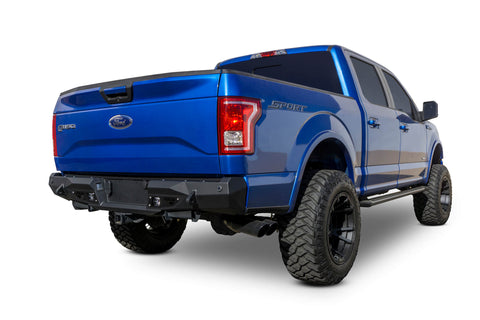 2015-2018 Ford F-150 Stealth Fighter Rear Bumper w/ Backup Sensors - F-150 Addicts