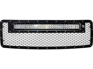 "2013-2014 Ford F150 Grille With Rigid 30"" RDS LED Light Bar - F-150 Addicts"