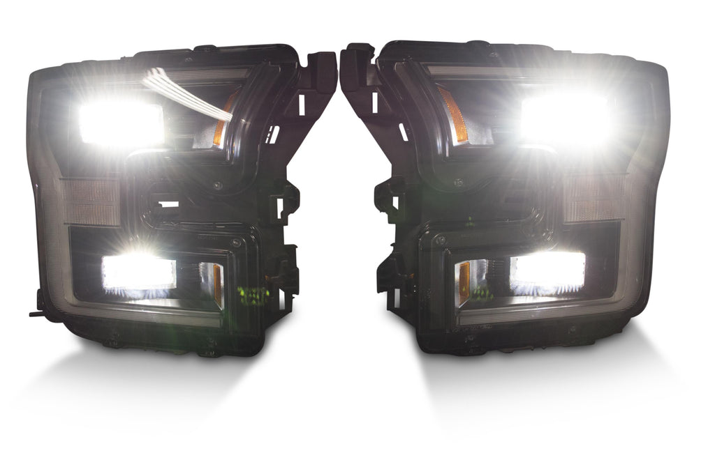 2015-2017 Ford F-150 Blacked Out OEM LED Headlights - F-150 Addicts