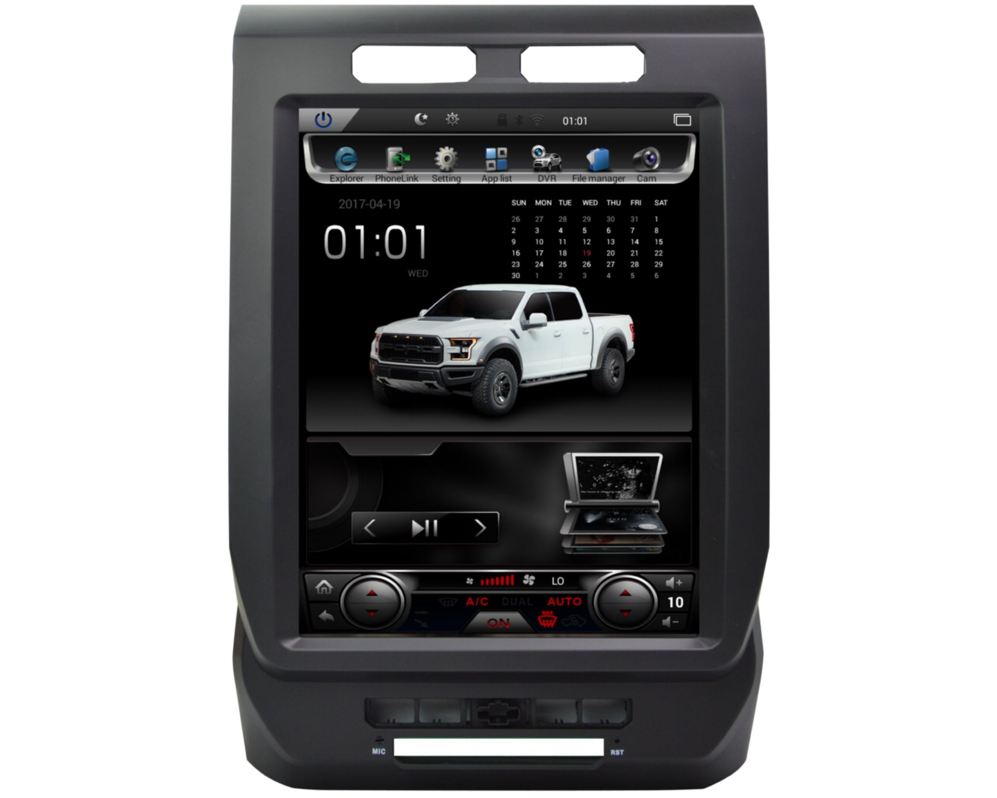 Ford F Tesla Style Android Navigation Radio