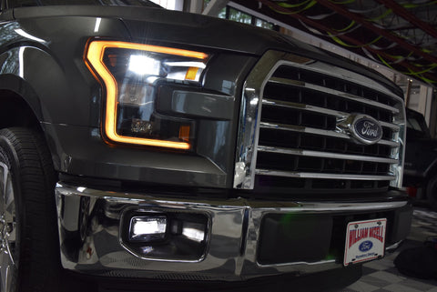 Image of 2015-2017 Ford F-150 Blacked Out OEM LED Headlights - F-150 Addicts
