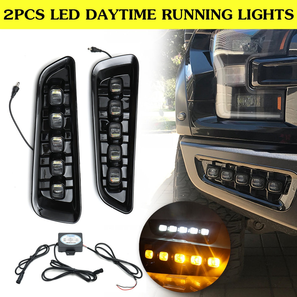 2x 12V LED DRL Fog Lights for Ford Raptor 2016 2017 2018 - F-150 Addicts