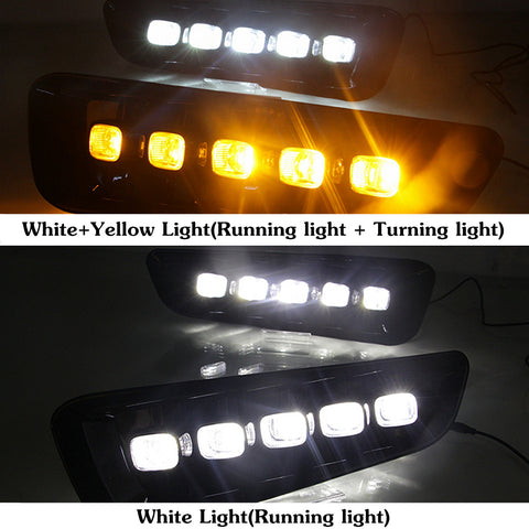 Image of 2x 12V LED DRL Fog Lights for Ford Raptor 2016 2017 2018 - F-150 Addicts