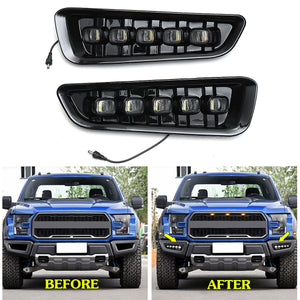 2x 12V LED DRL Fog Lights for Ford Raptor 2016 2017 2018