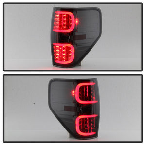 2009-2014 Ford F150 Black LED Tail Lights