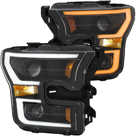 Image of 2015-2017 F150 Switchback LED Black Projector Headlights - F-150 Addicts