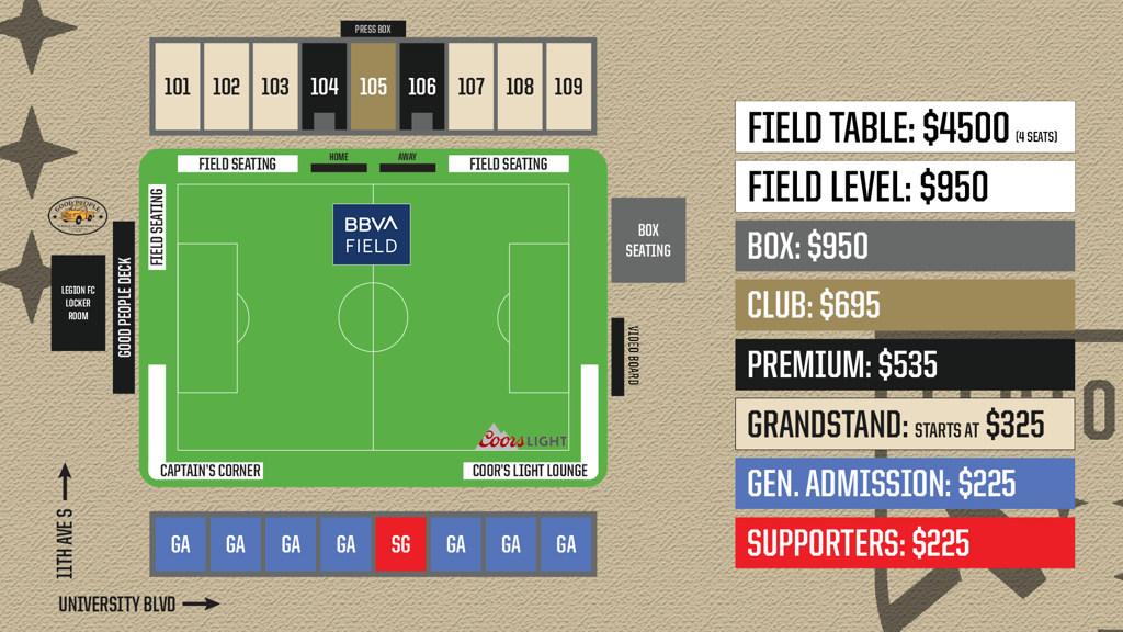 Legion FC 2020 Season Ticket Deposit