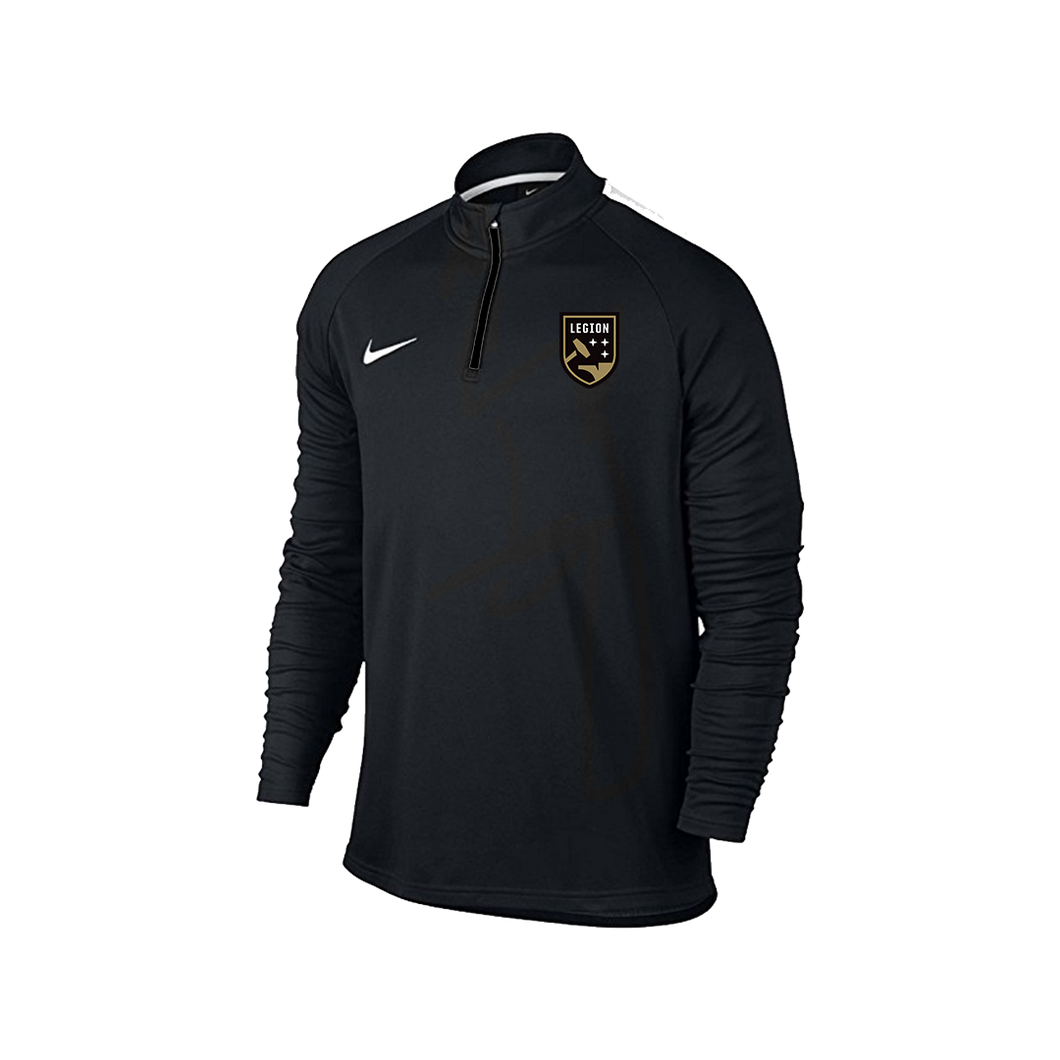 Legion FC Nike Black 1/4 Zip Dri-Fit Drill Top