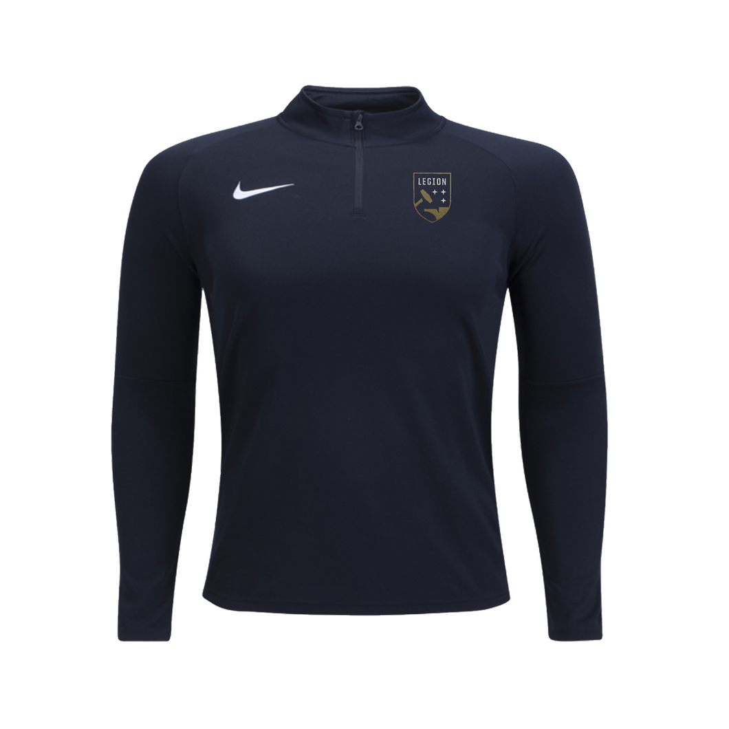 Legion FC Nike Black 1/4 Zip Fleece Drill Top