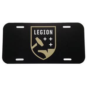 Legion FC License Plate