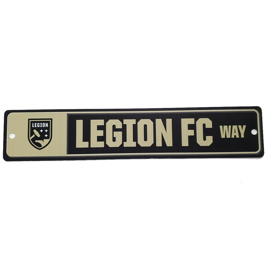 Legion FC Way Street Sign