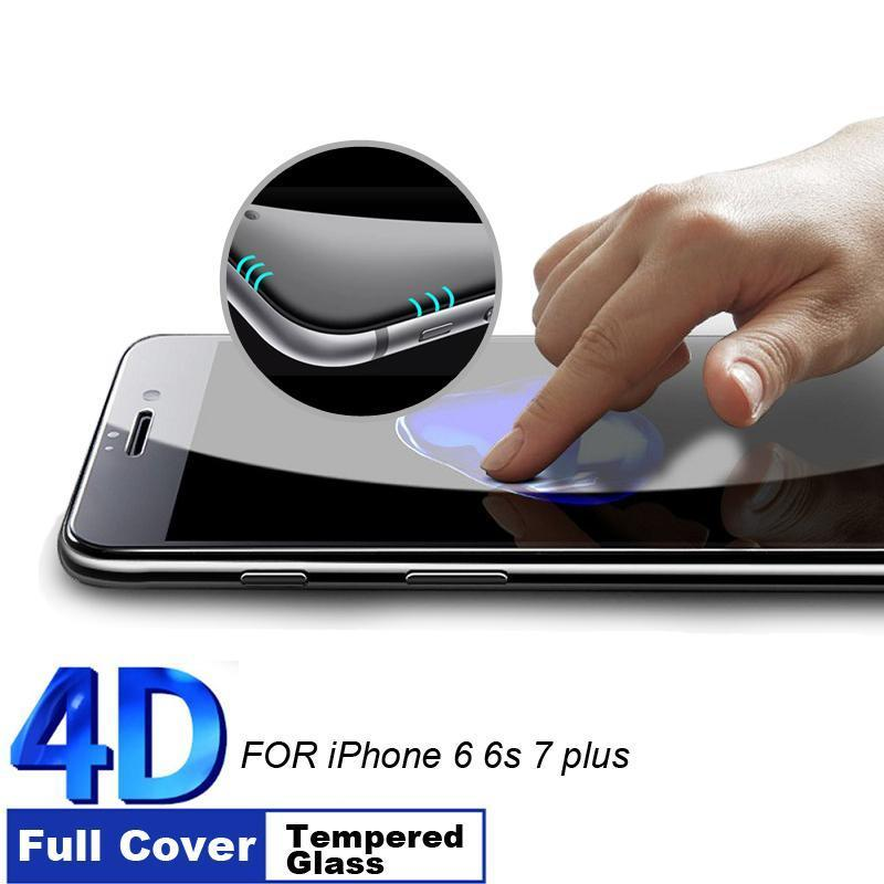 4D Curved Edge Full Cover Tempered Glass for iPhone - Happy Wallet