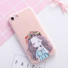 Cute Flower unicorn case for iPhone