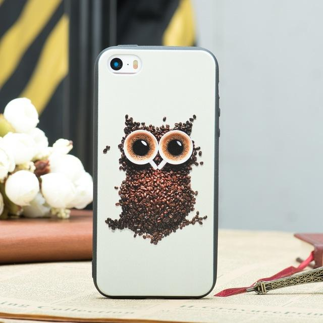 iPhone Funny Cartoon Pets Silicone Case - Happy Wallet