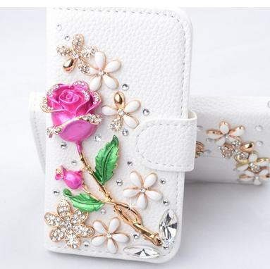 Samsung Handmade Bling Leather Wallet Case