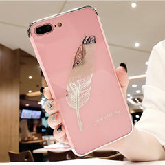 Luxury Quill Pen Feather iPhone Case