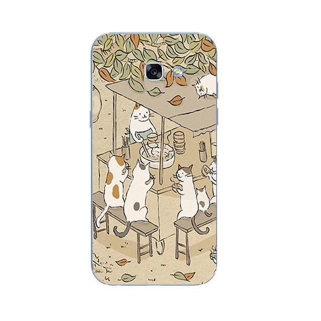 Samsung Back Cover Playing Cats - Happy Wallet