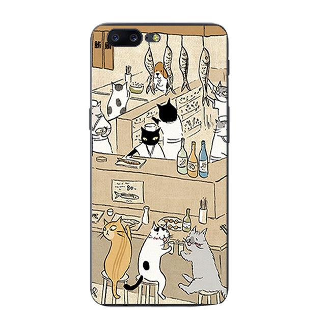 Oneplus Cute Cat Pet Pattern Phone Case - Happy Wallet