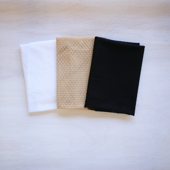 French Dot Stretch Mesh - 1/2 meter