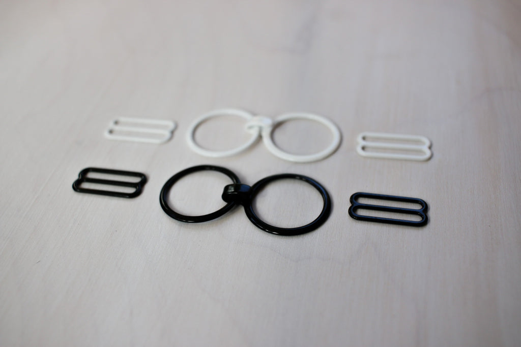 sliders and rings, ring hook, convertible bra hardware,