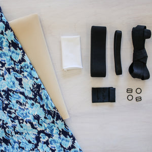 Jordy Bra & Panty Kit - Blue/White print & Foam