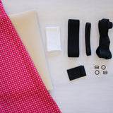 Jordy Bra & Panty Kit - Red/Pink & White Polka Dot print & Foam