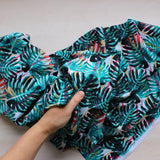 Monstera Palm Print Swimwear Fabric