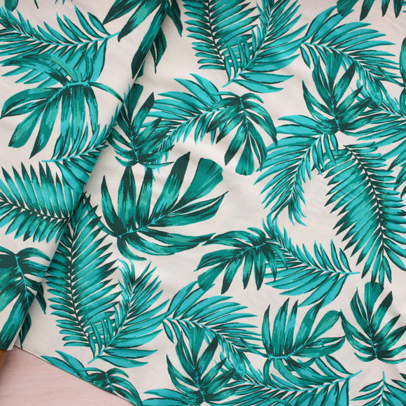 Classic Palm Print Swimwear Fabric - 1/2 meter