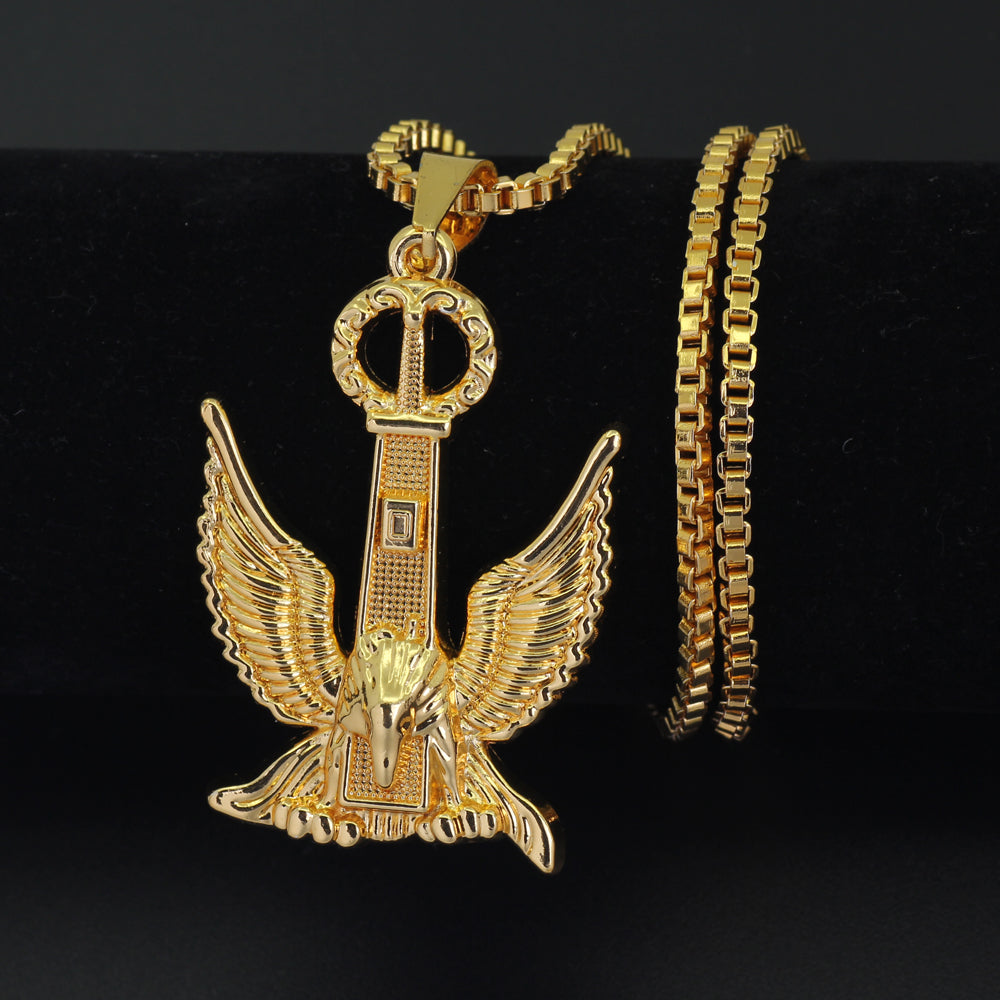Gold eagle pendant necklace allgoldsupply gold eagle pendant necklace aloadofball Choice Image
