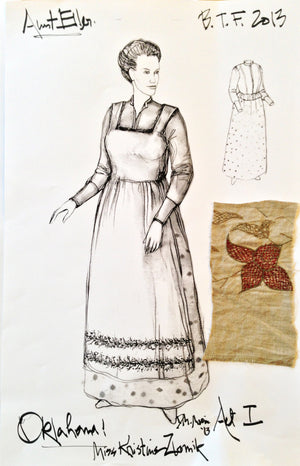 """Oklahoma"" Aunt Eller Costume Design By David Murin"