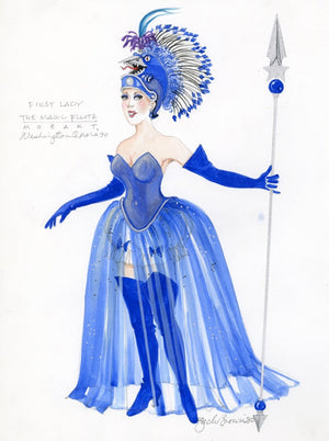 Magic Flute - First Lady Costume Sketch By Zack Brown