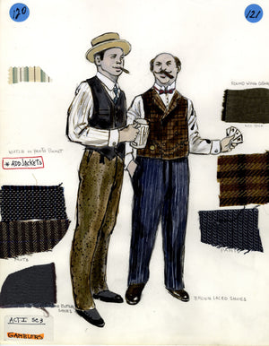 SHOW BOAT - 'Gamblers' - Tony Award winning costume design by Florence Klotz
