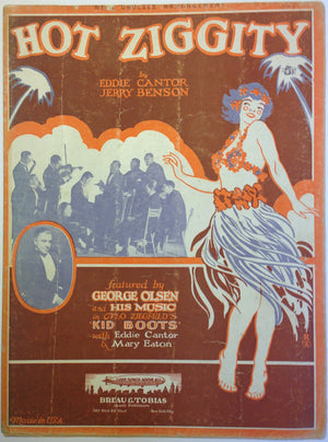 """Hot Ziggity"" Vintage Sheet Music From""Kid Boots"