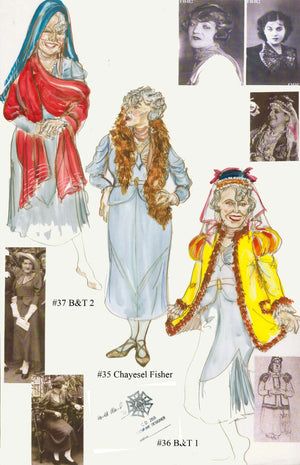 "'People In The Picture"" Costume Sketch By Ann Hould Ward"