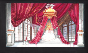 """Sleeping Beauty""  Set Sketch By Zack Brown"